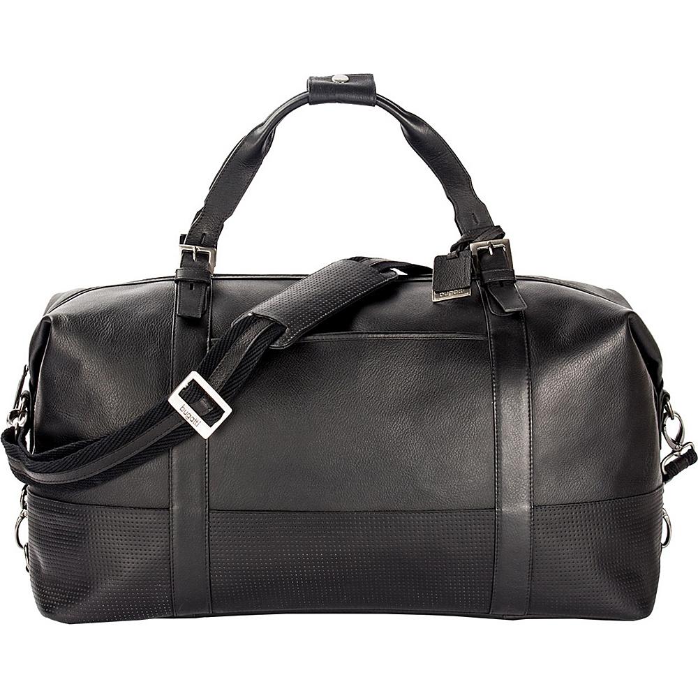 Bugatti Soledad Leather Duffle Bag Black Bugatti Travel Duffels