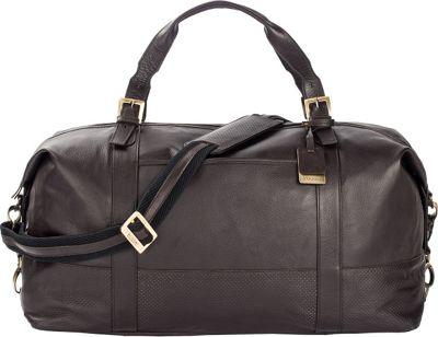Bugatti Soledad Leather Duffle Bag Brown - Bugatti Travel Duffels