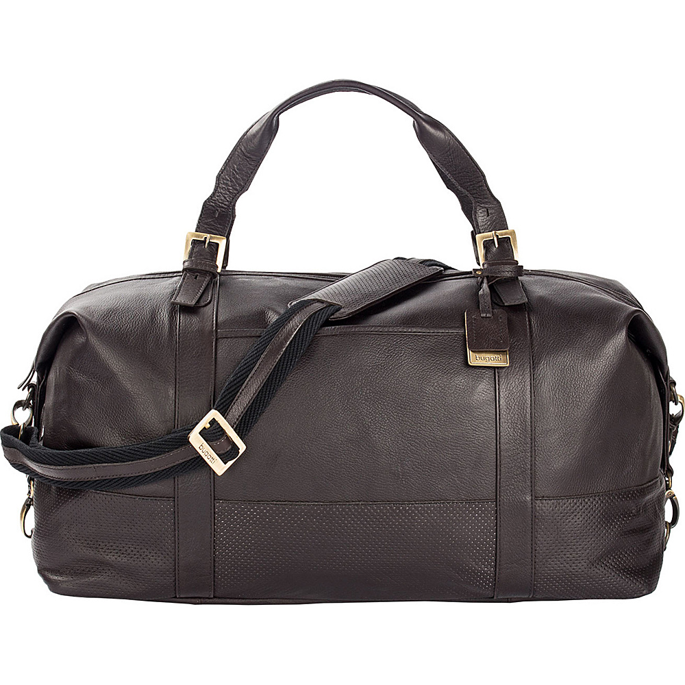 Bugatti Soledad Leather Duffle Bag Brown Bugatti Travel Duffels
