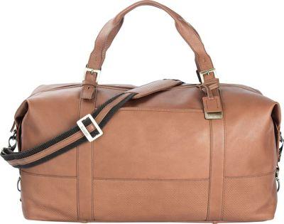 Bugatti Soledad Leather Duffle Bag Cognac - Bugatti Travel Duffels