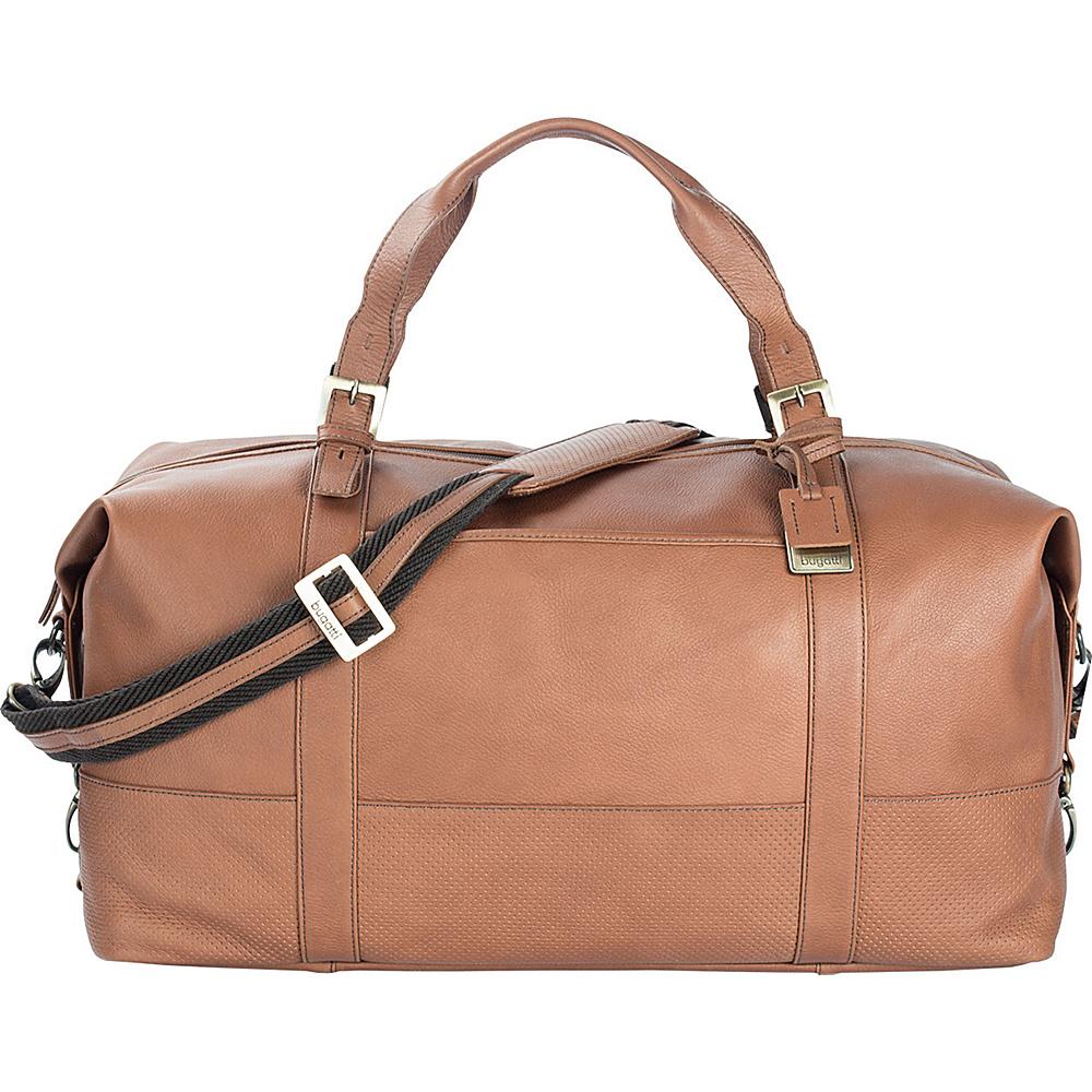 Bugatti Soledad Leather Duffle Bag Cognac Bugatti Travel Duffels