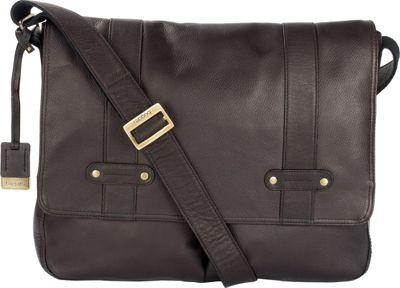 Bugatti Perreira Leather Messenger Bag Black - Bugatti Messenger Bags