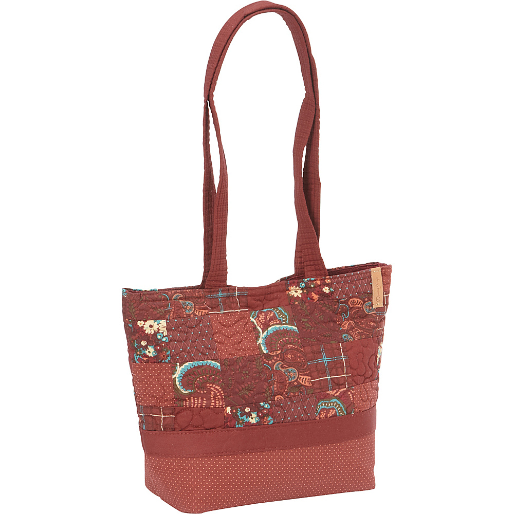 Donna Sharp Medium Patched Tote Autumn Donna Sharp Manmade Handbags