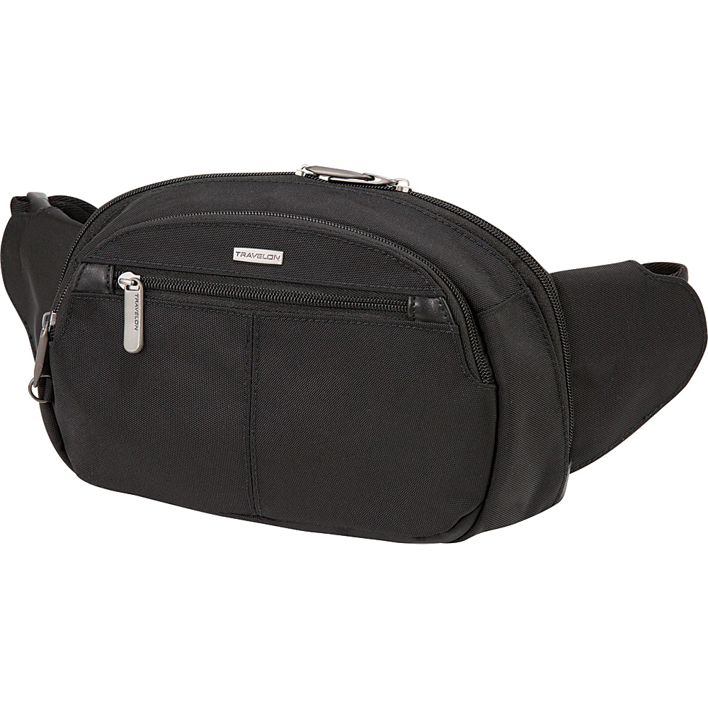 Travelon Anti-Theft Concealed Carry Waist Pack Black/Grey Interior - Travelon Waist Packs - Backpacks, Waist Packs