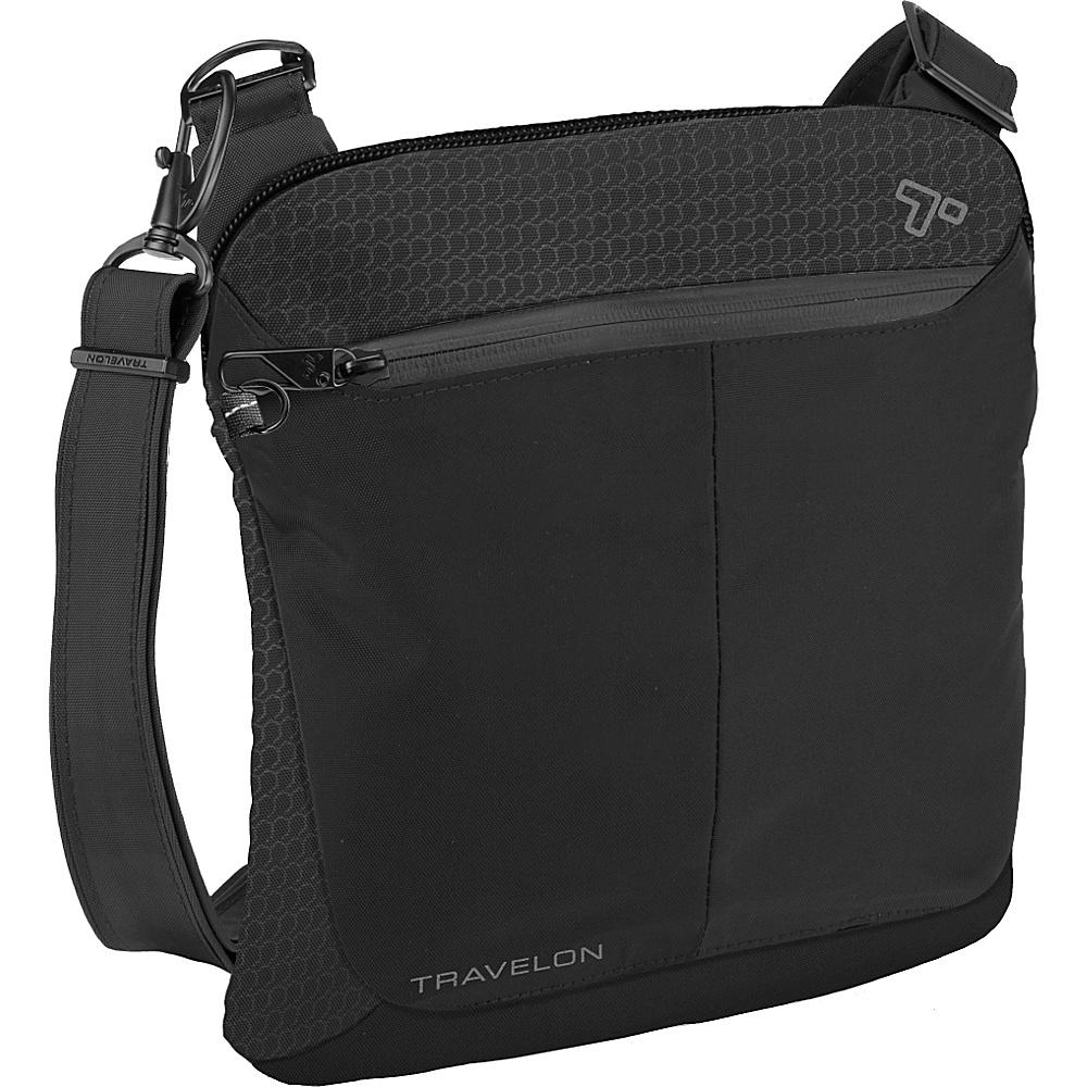 Travelon Anti-Theft Active Small Crossbody Bag Black - Travelon Fabric Handbags - Handbags, Fabric Handbags
