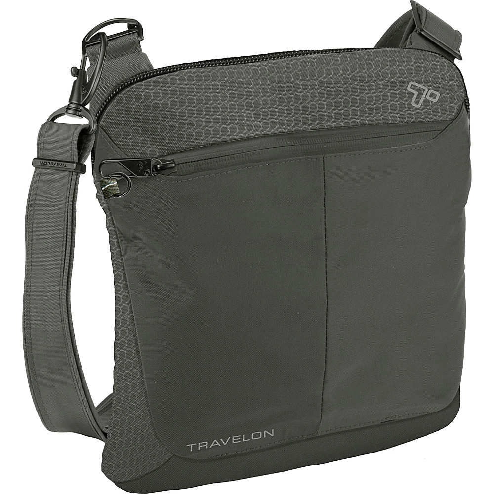 Travelon Anti-Theft Active Small Crossbody Bag Charcoal - Travelon Fabric Handbags - Handbags, Fabric Handbags