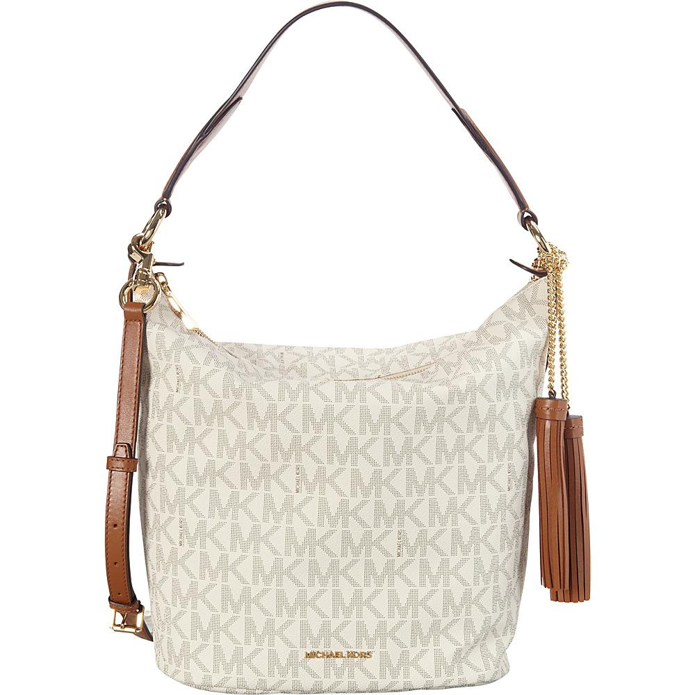 MICHAEL Michael Kors Elana Large Convertible Shoulder Bag Vanilla - MICHAEL Michael Kors Designer Handbags