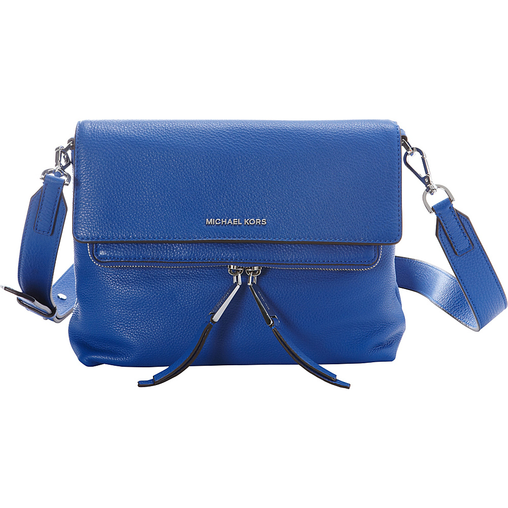 MICHAEL Michael Kors Ezra Medium Messenger Electric Blue - MICHAEL Michael Kors Designer Handbags