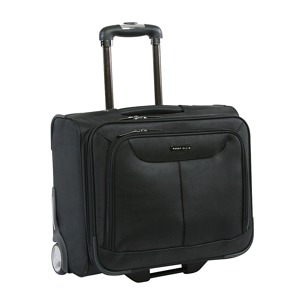 Perry Ellis Rolling Business Briefcase Black - Perry Ellis Wheeled Business Cases