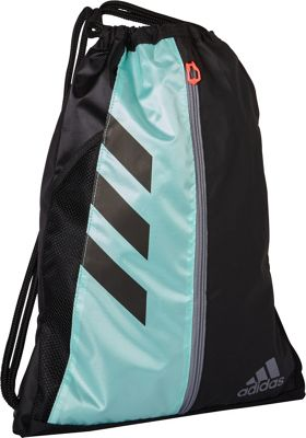 adidas Team Issue Sackpack Black/Energy Aqua/Grey/Lucid Red - adidas Everyday Backpacks