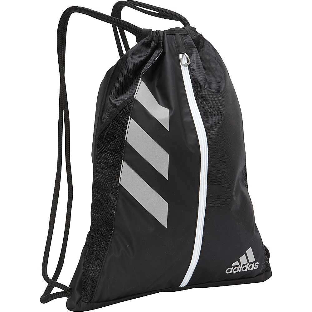 adidas Team Issue Sackpack Black Silver adidas Everyday Backpacks
