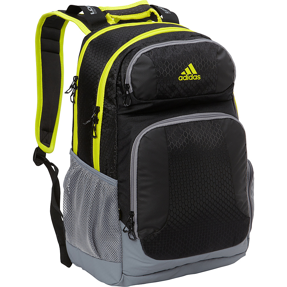 adidas Strength Laptop Backpack Black/Solar Yellow/Deepest Space - adidas Business & Laptop Backpacks