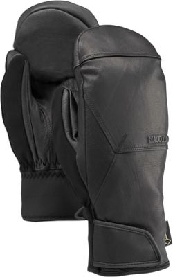 Burton Mens Gondy Gore-Tex Leather Mitt S - Black - Burton Hats/Gloves/Scarves