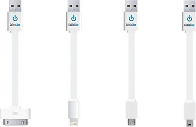 ChargeHub Value Pack of 4 USB Charge & Sync Cables White - ChargeHub Electronic Accessories