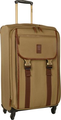 Timberland Reddington 25 inch Expandable Spinner Suitcase Military Olive - Timberland Softside Checked