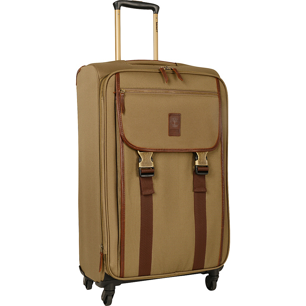 Timberland Reddington 25 Expandable Spinner Suitcase Military Olive Timberland Softside Checked
