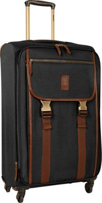 Timberland Reddington 25 inch Expandable Spinner Suitcase Black - Timberland Softside Checked