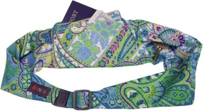 BANDI Wear Large Pocket Belt Blue Green Paisley - BANDI Wear Sports Accessories