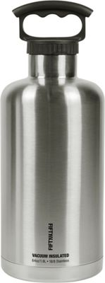 FIFTY/FIFTY Vacuum-Insulated Tank Growler-64oz Stainless Steel - FIFTY/FIFTY Hydration Packs and Bottles