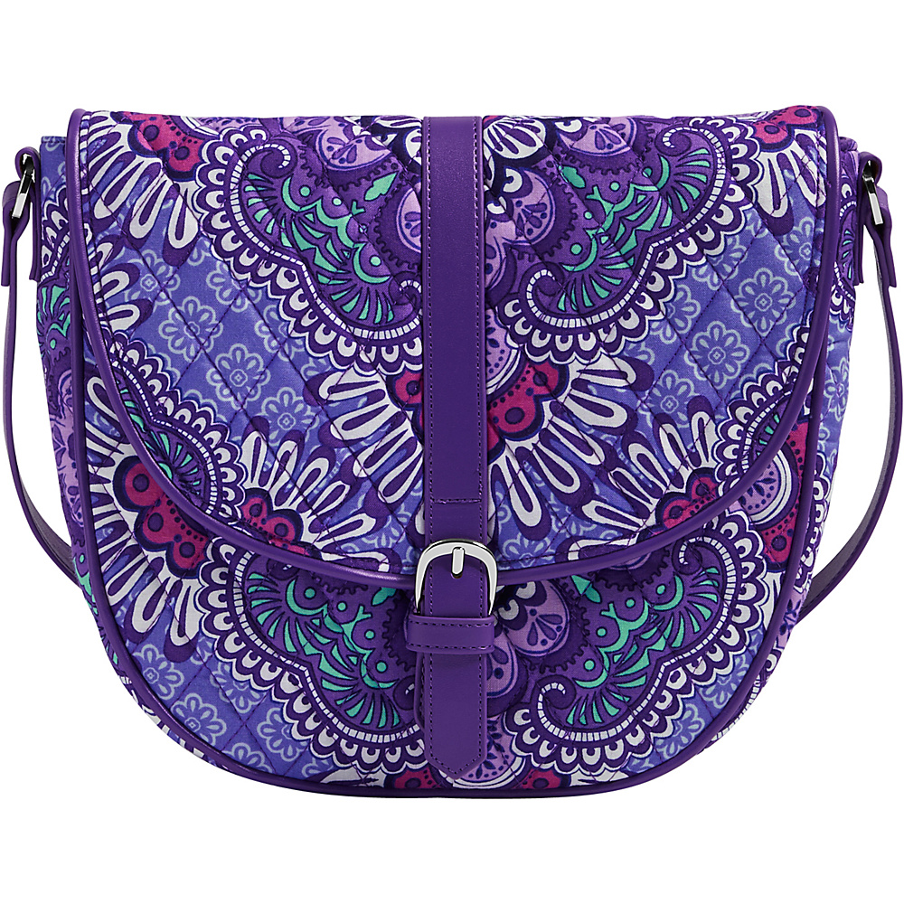 Vera Bradley Slim Saddle Bag Lilac Tapestry Vera Bradley Fabric Handbags