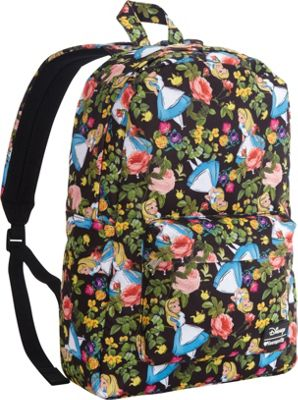 Loungefly Alice In Wonderland Floral Backpack Black/Multi - Loungefly Everyday Backpacks
