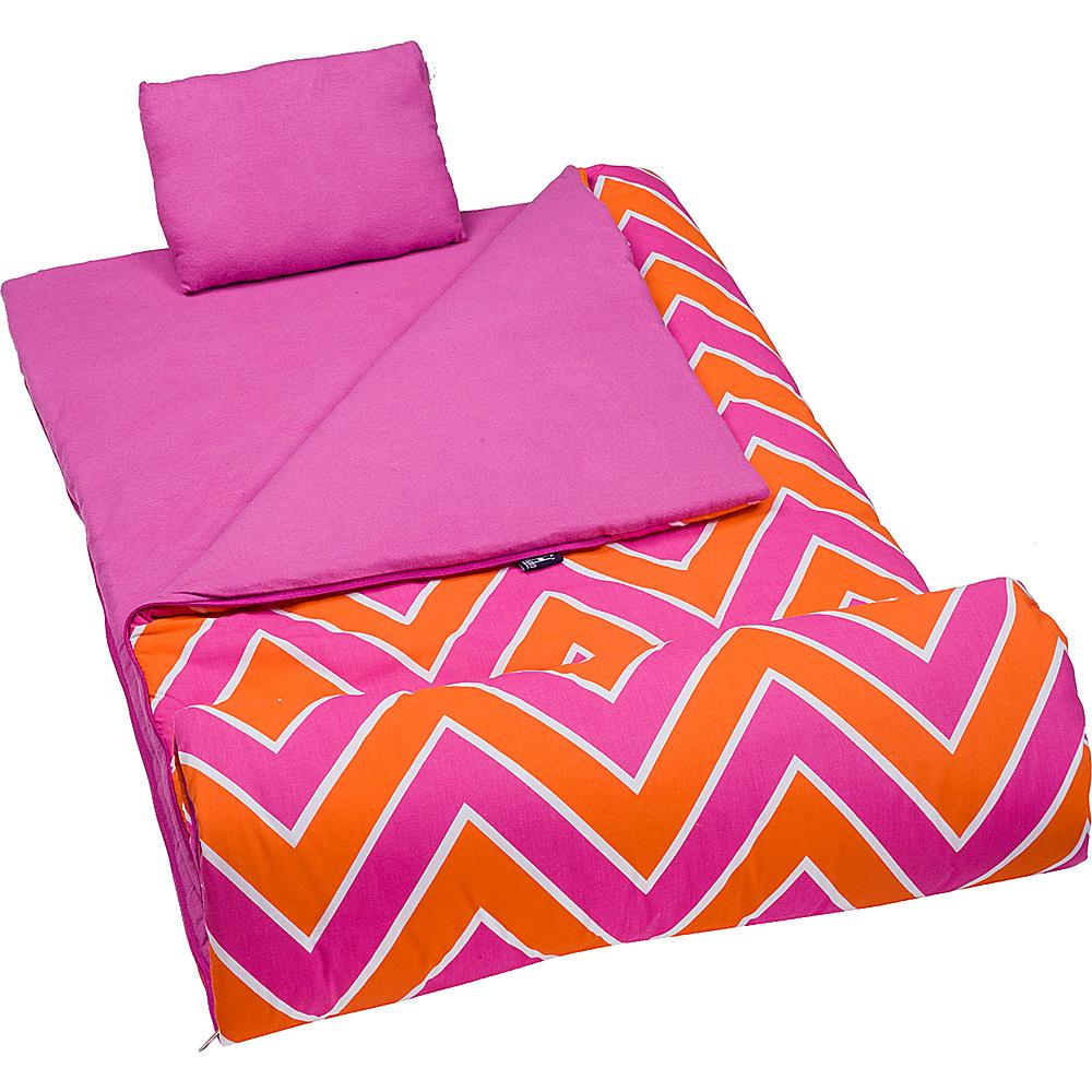 Wildkin Original Sleeping Bag Zigzag Pink Wildkin Travel Pillows Blankets