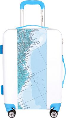 Ugobags Map 26.5 inch Luggage Map - Ugobags Hardside Checked