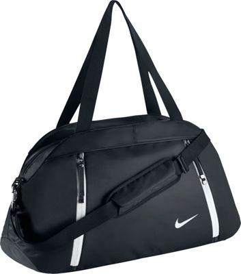 Nike Auralux Club Duffel - Solid Black/Black/White - Nike Gym Duffels