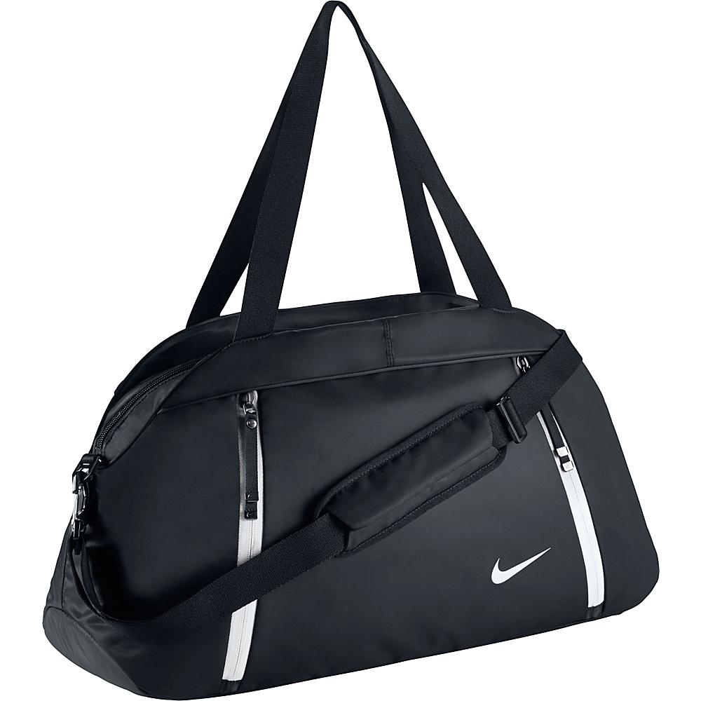 Nike Auralux Club Duffel Solid Black Black White Nike Gym Duffels