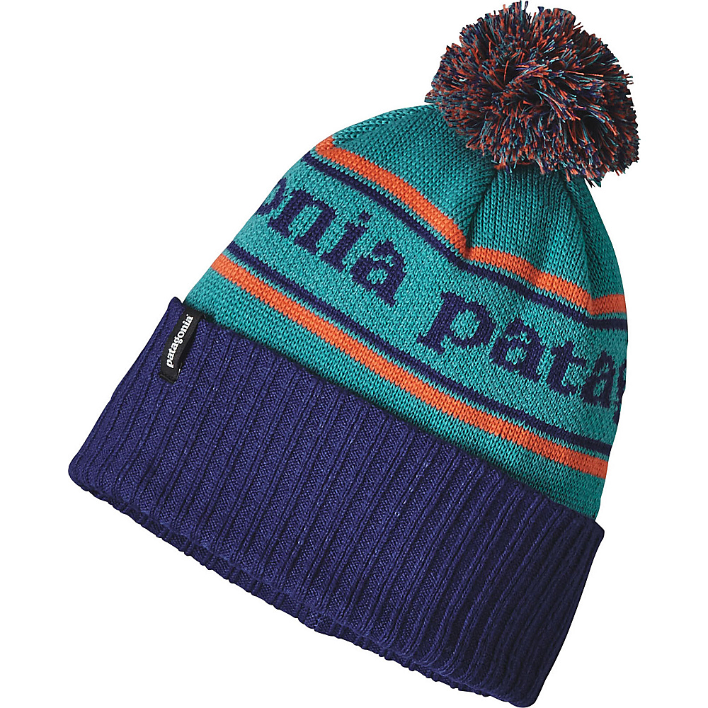 Patagonia Powder Town Beanie One Size - Park Stripe: Harvest Moon Blue - Patagonia Hats/Gloves/Scarves - Fashion Accessories, Hats/Gloves/Scarves