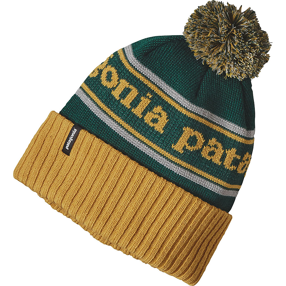 Patagonia Powder Town Beanie One Size - Park Stripe: Sulphur Yellow - Patagonia Hats/Gloves/Scarves - Fashion Accessories, Hats/Gloves/Scarves