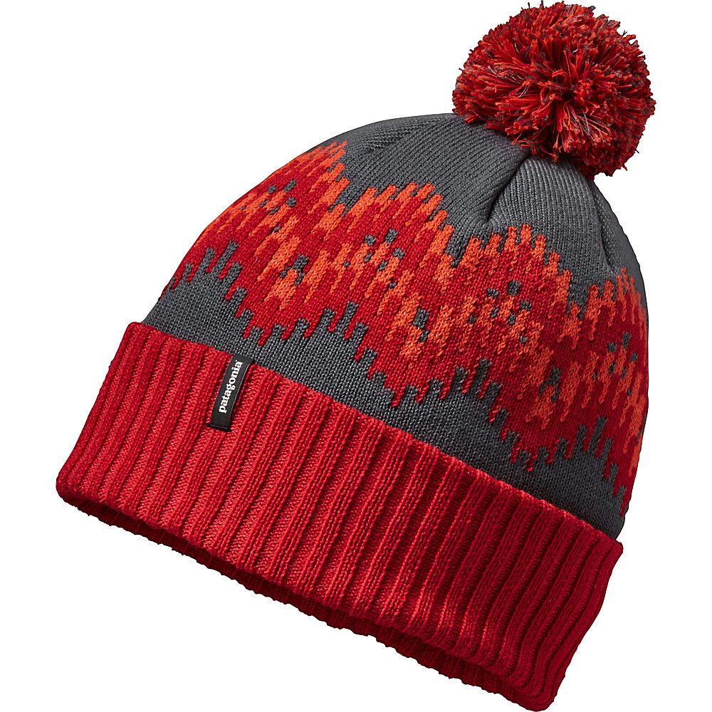 Patagonia Powder Town Beanie One Size - Timber Stripe: French Red - Patagonia Hats/Gloves/Scarves - Fashion Accessories, Hats/Gloves/Scarves