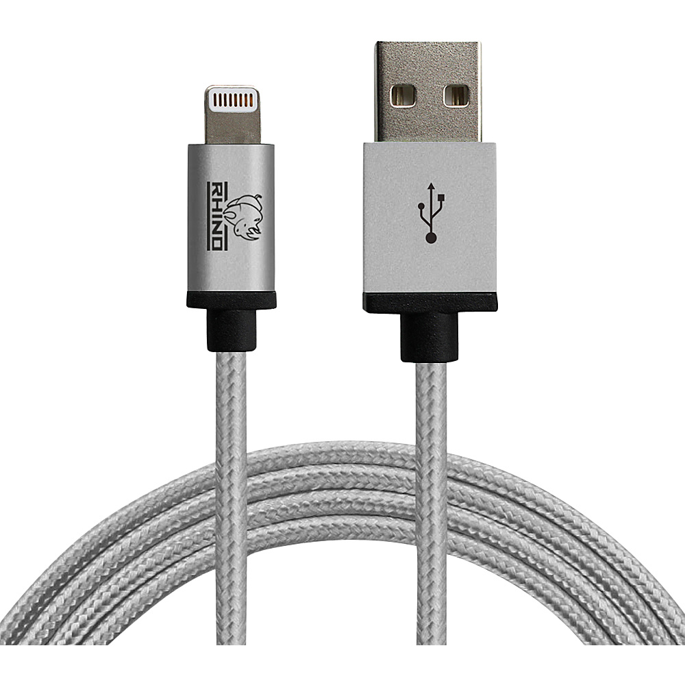 Rhino MFI Lightning Cable with Aluminum Alloy Tip 3.3 ft. Grey Rhino Electronic Accessories