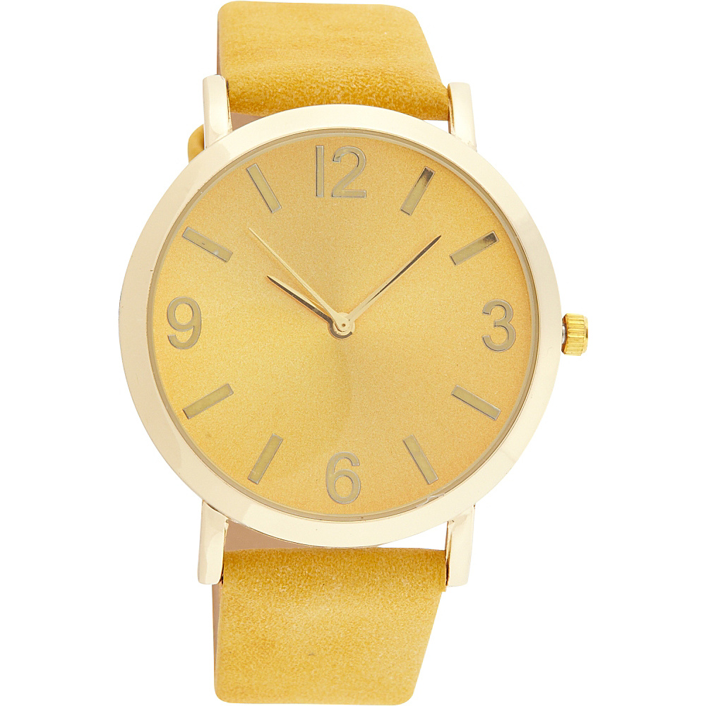 Samoe Band Watch Mustard with Gold Round Face Samoe Watches
