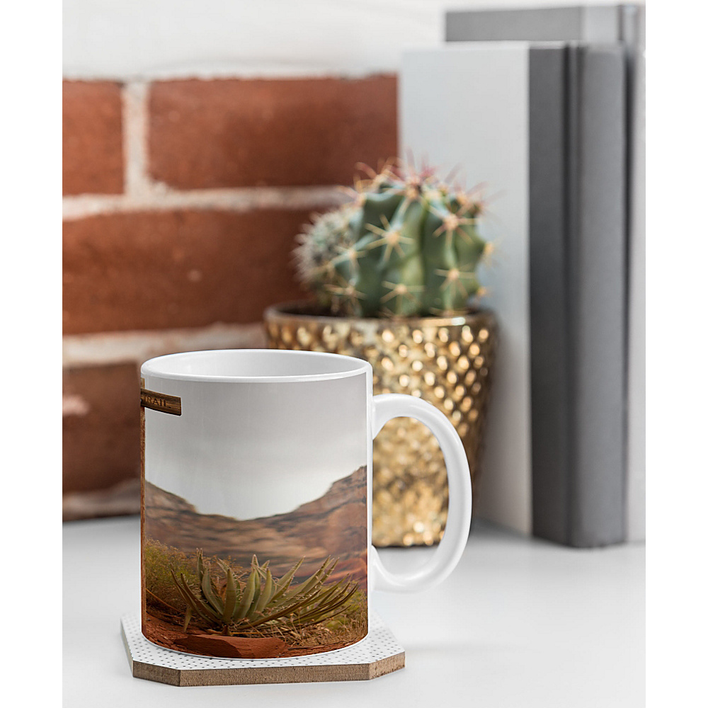 DENY Designs Barbara Sherman Coffee Mug Trail Orange End of Trail DENY Designs Outdoor Accessories