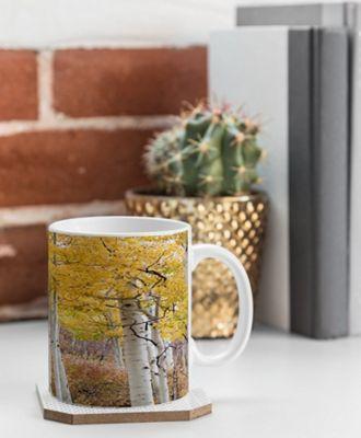 Deny Designs Barbara Sherman Coffee Mug Aspen Yellow - Golden Aspens - Deny Designs Outdoor Accessories