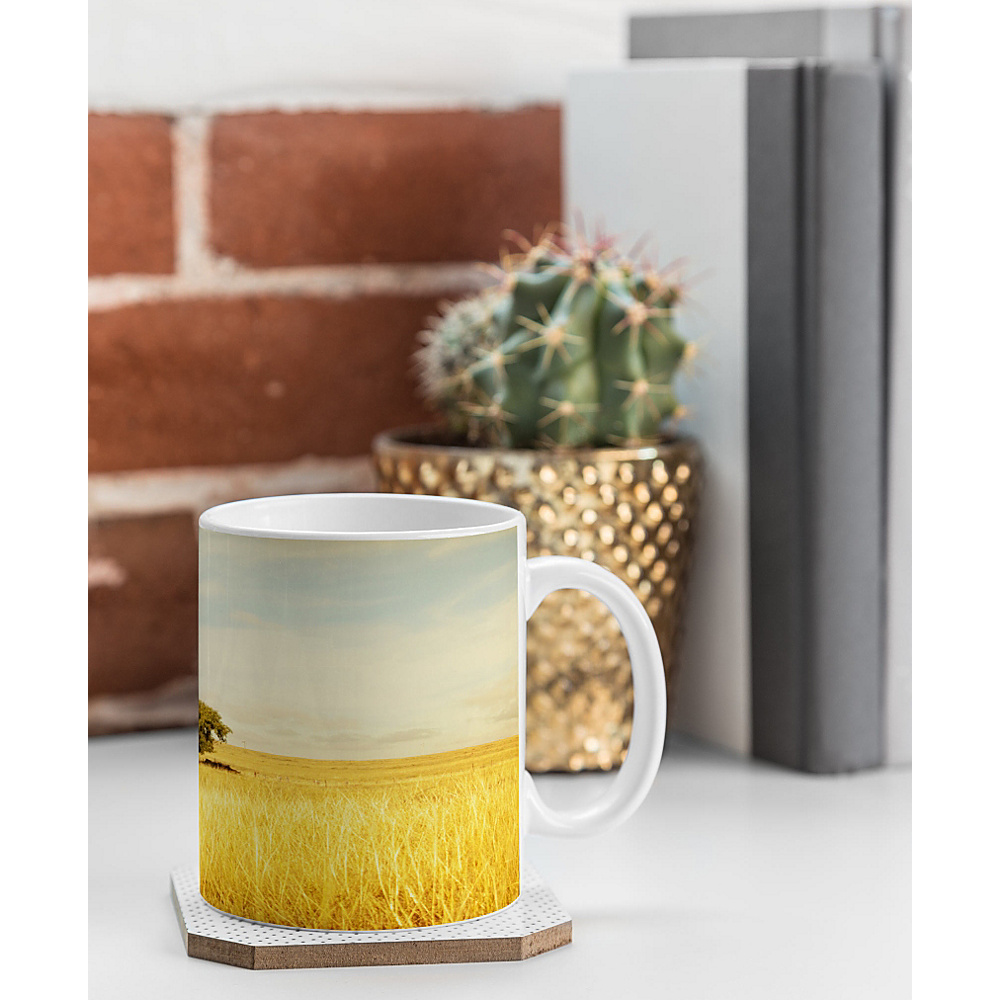 DENY Designs Barbara Sherman Coffee Mug Golden Yellow Solitary DENY Designs Outdoor Accessories