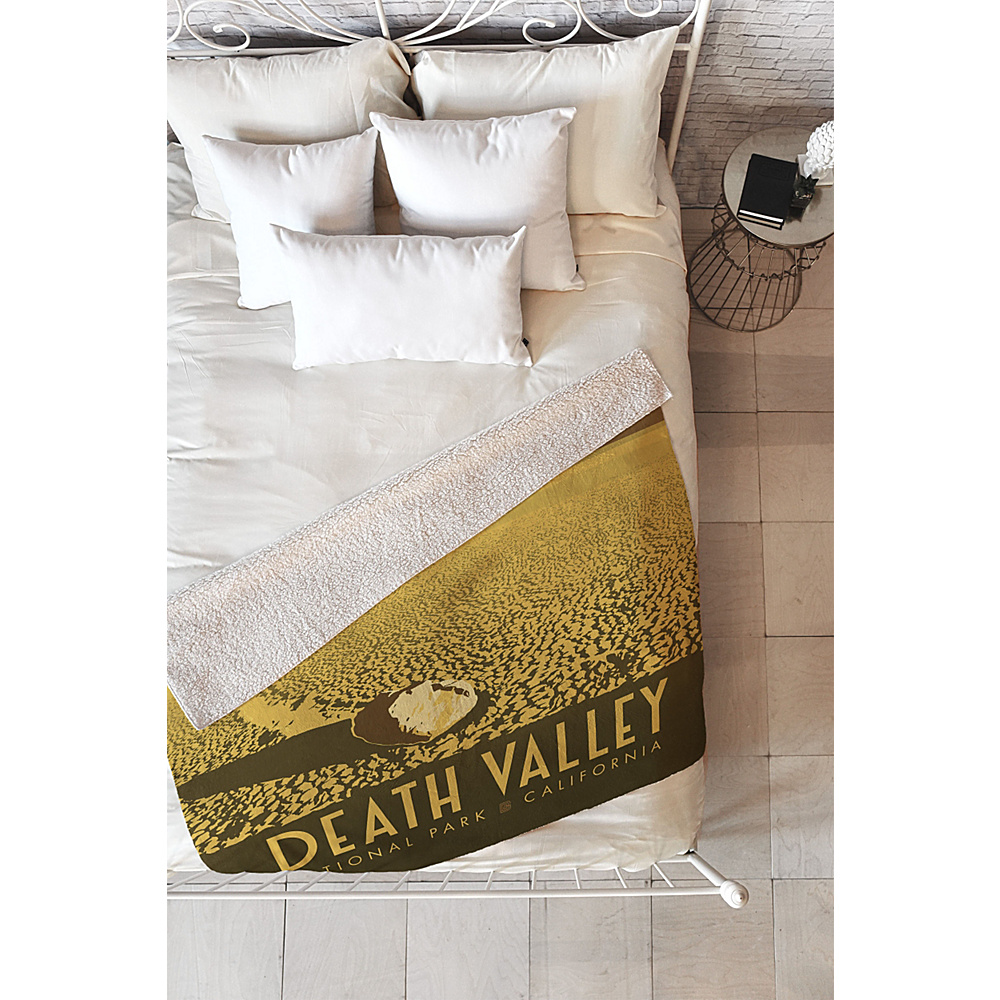 DENY Designs Anderson Design Group Sherpa Fleece Blanket Valley Yellow - Death Valley National Park - DENY Designs Travel Pillows & Blankets