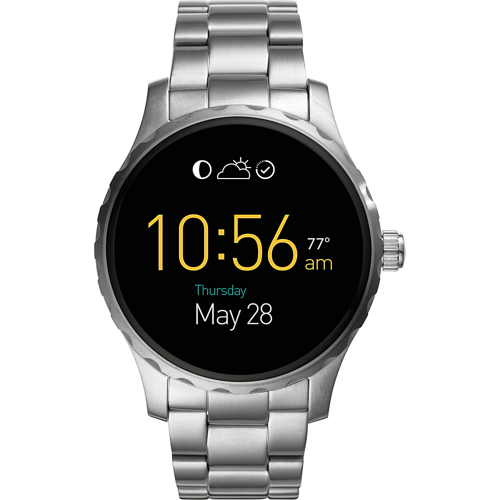 Fossil Q Marshal Digital Display Stainless Steel Touchscreen Smartwatch Silver - Fossil Wearable Technology - Technology, Wearable Technology