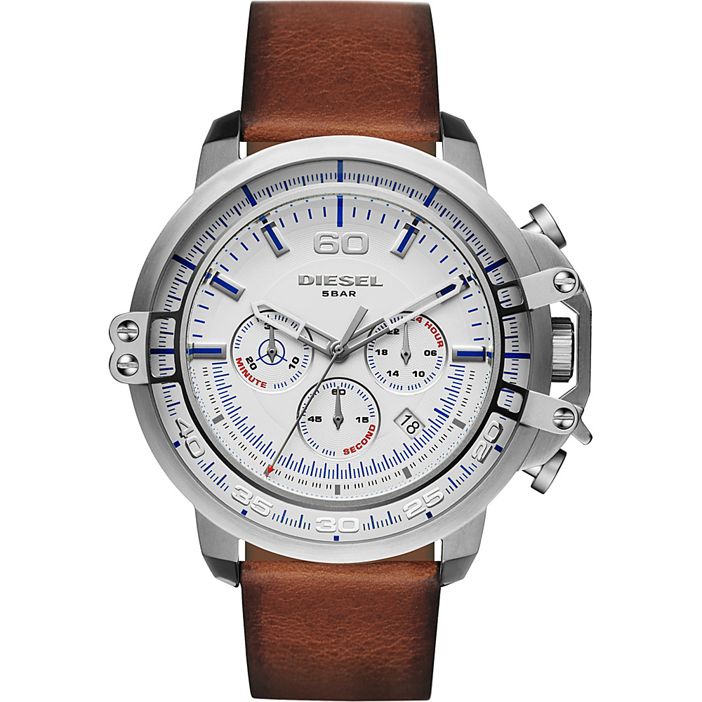 Diesel Watches Deadeye Leather Watch Brown - Diesel Watches Watches