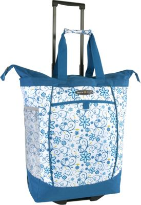 Pacific Coast Rolling Shopping Tote Bag Blue Daisy - Pacific Coast All-Purpose Totes