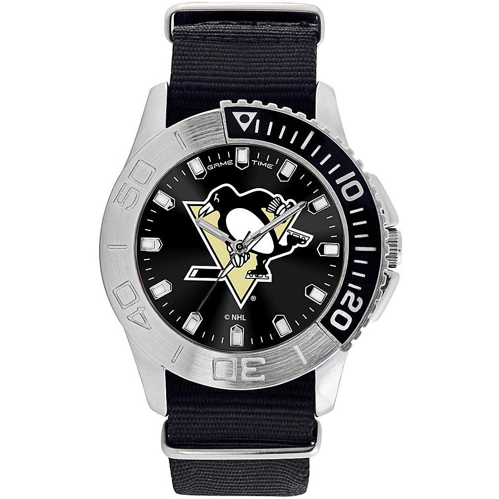 Game Time Mens Starter-NHL Watch Pittsburgh Penguins - Game Time Watches - Fashion Accessories, Watches