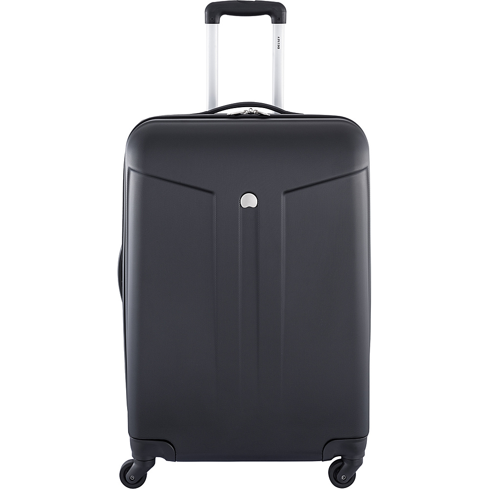 Delsey Comte 24 Expandable Hardside 4 Wheel Spinner Black Delsey Hardside Checked