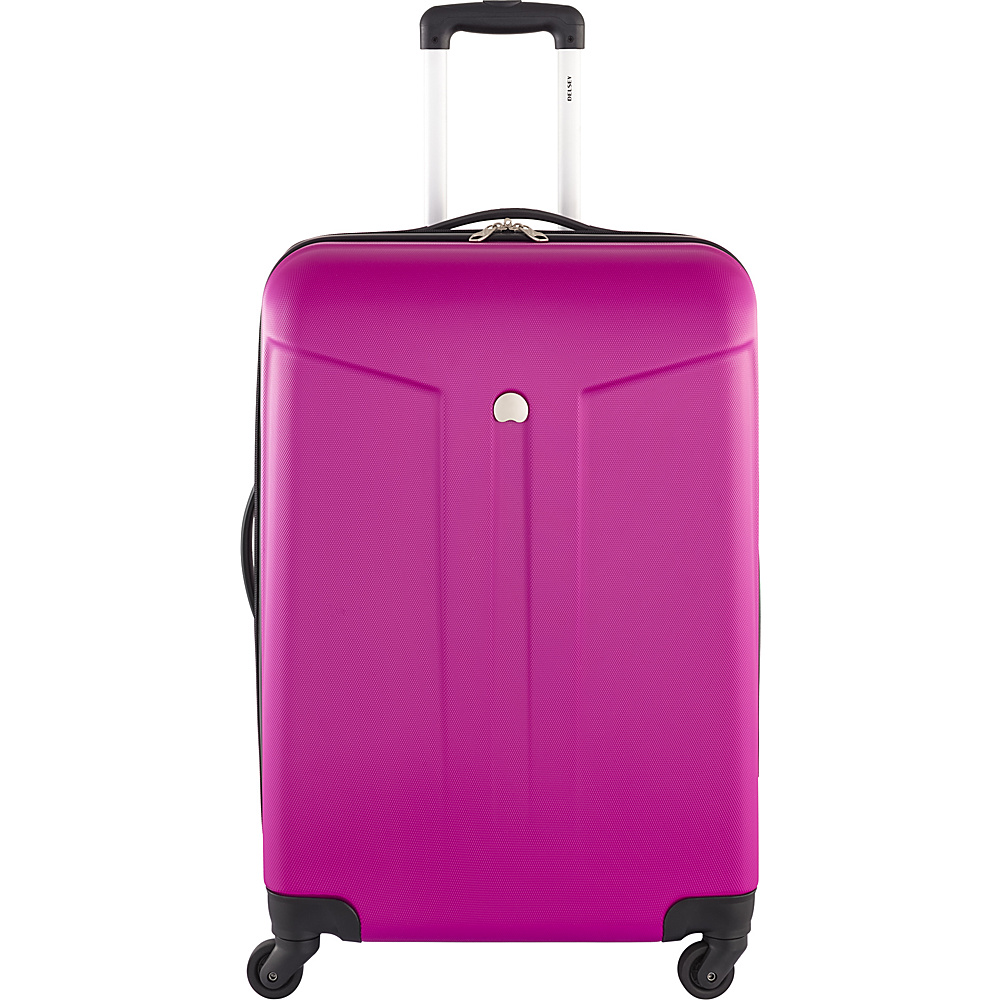 Delsey Comte 24 Expandable Hardside 4 Wheel Spinner Fuchsia Delsey Hardside Checked