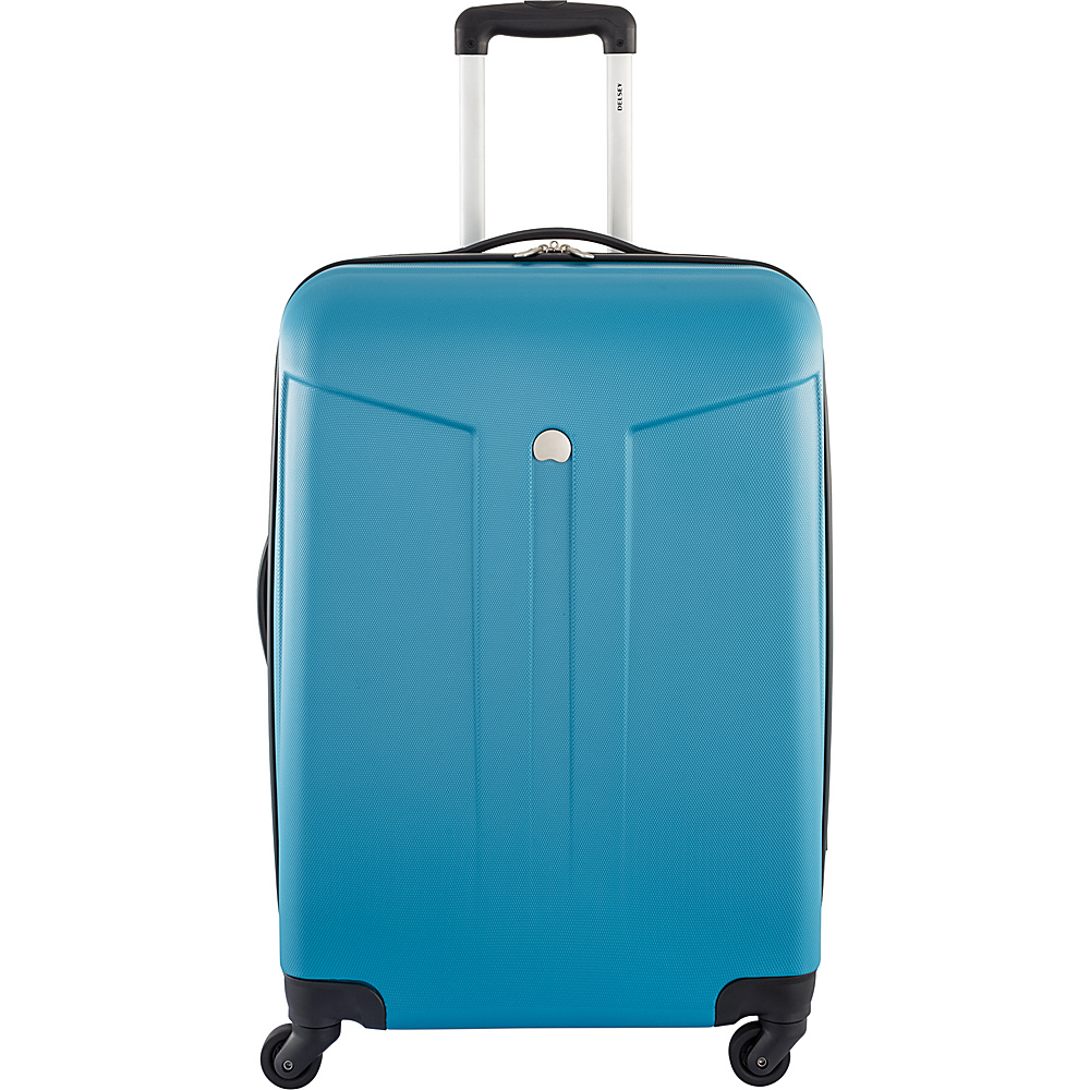 Delsey Comte 24 Expandable Hardside 4 Wheel Spinner Teal Delsey Hardside Checked