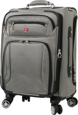 Wenger Travel Gear Zurich 20 inch Pilot Case Spinner Pewter - Wenger Travel Gear Softside Carry-On
