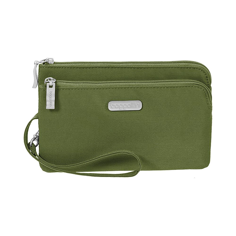 baggallini RFID Double Zip Wristlet - Retired Colors Moss - baggallini Womens Wallets - Women's SLG, Women's Wallets