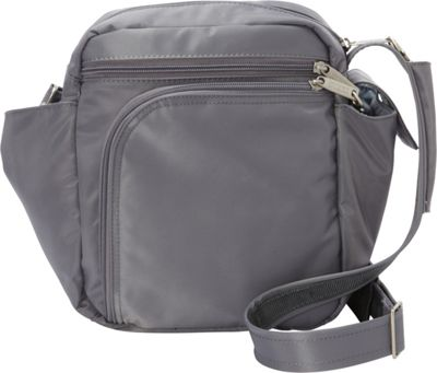 BeSafe by DayMakers RFID Smart Traveler 10 LX Shoulder Bag Pewter - BeSafe by DayMakers Fabric Handbags