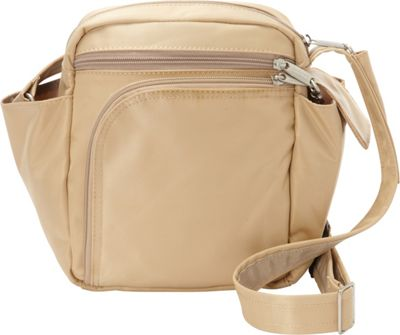 BeSafe by DayMakers RFID Smart Traveler 10 LX Shoulder Bag Taupe - BeSafe by DayMakers Fabric Handbags