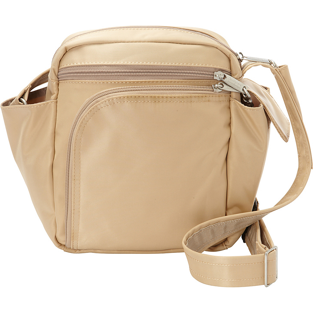 BeSafe by DayMakers RFID Smart Traveler 10 LX Shoulder Bag Taupe BeSafe by DayMakers Fabric Handbags